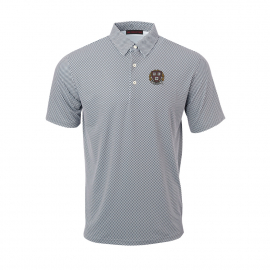 Harvard Men's Gingham Print Polo