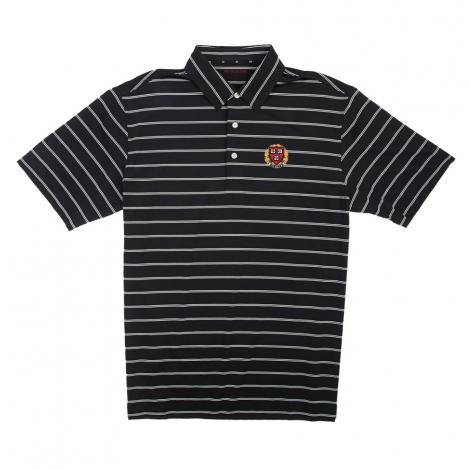 Harvard Men's Short Sleeve Ecotec Stripe Polo