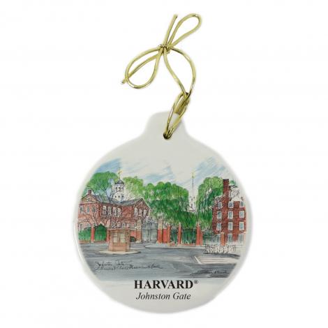 Harvard Johnston Gate Stone Ornament