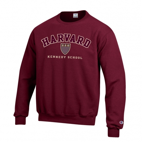 Harvard Kennedy School of Government Applique Crew Neck Sweatshirt