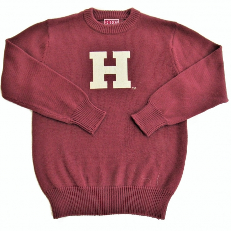 Toddler Harvard Maroon Cotton Crewneck Sweater