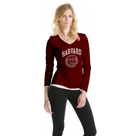 Harvard Long Sleeve Layered Women's tee