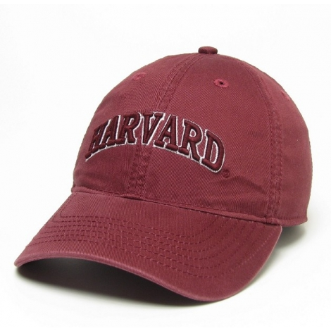 Harvard Arched Logo Washed Twill Hat