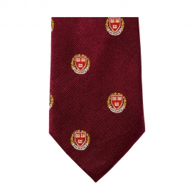 Harvard Seal Silk Tie