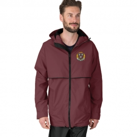 Men's Harvard New Englander Maroon Rain Jacket