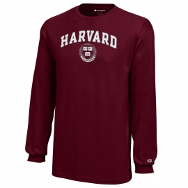 Harvard Champion Arched Two-Tone Seal Long Sleeve Tee