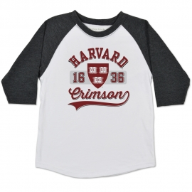 Harvard Home Run Raglan Youth  Tee