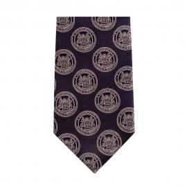 M.I.T. Seal 100% Silk Tie in Maroon or Navy