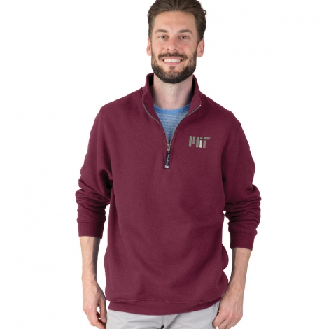 MIT Contemporary 1/4 Zip Crosswind Maroon Sweatshirt
