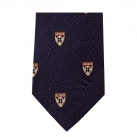 Harvard Business School Shield Tie in Maroon or Navy