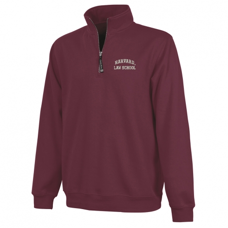 Harvard Law School 1/4 Zip Crosswind Sweatshirt