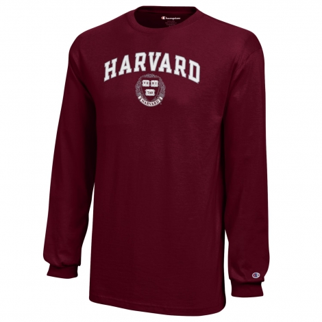 Youth Harvard Long Sleeve Jersey Tee with Seal Design