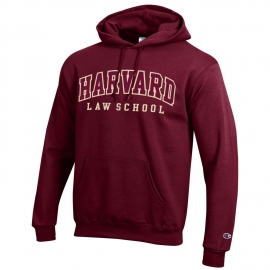 Harvard Law School Champion Applique Hooded Sweatshirt
