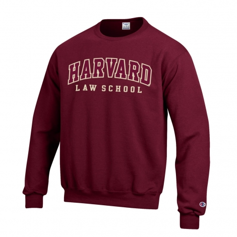 Harvard Law School Champion Applique Crew Neck Sweatshirt