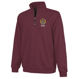 Harvard Maroon 1/4 Zip Crosswind Dad Sweatshirt