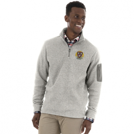 Men's Harvard Grey 1/4 Zip Sweater Fleece