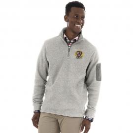 Men's Harvard Grey 1/4 Zip Sweater Fleece