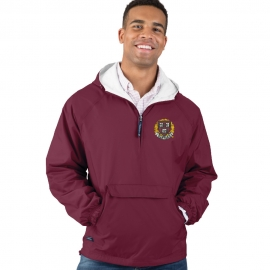Men's Harvard Maroon Lightweight Pullover Jacket