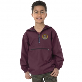 Youth Harvard Maroon Pack and Go Pullover jacket