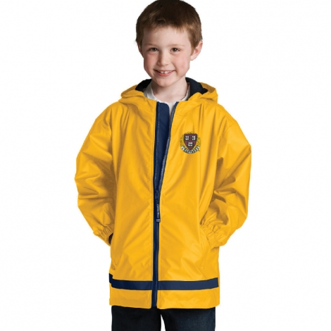 Youth Harvard Yellow New Englander Rain Jacket