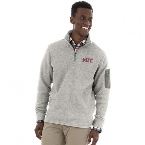 Men's MIT Grey 1/4 Zip Sweater Fleece