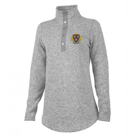 Harvard Seal Women's Hingham 1/4 Snap Sweater Tunic
