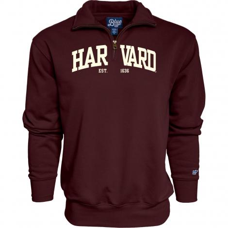 Harvard 1/4 Zip Sweatshirt