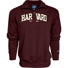 Harvard 1/4 Zip Sweatshirt