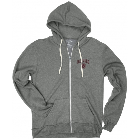 Harvard Men's Tri-Blend Fleece Full Zip Hood