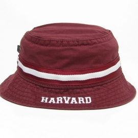 Harvard Burgundy Relaxed Twill Bucket Hat