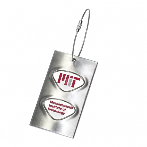 MIT Metal Luggage/Bag Tag with Custom Medallions