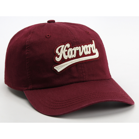 Harvard Felt Script Adjustable Washed Twill Hat
