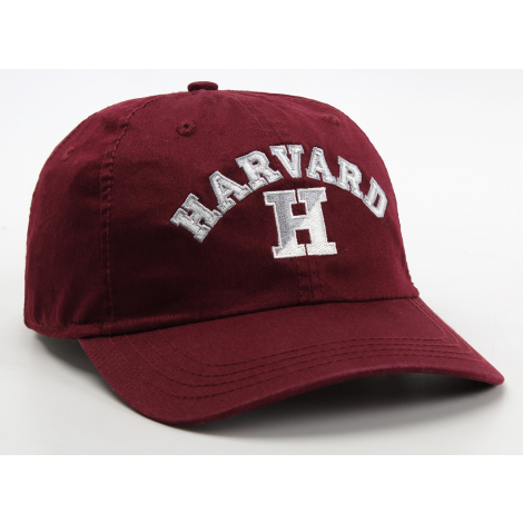 Harvard Embroidered Split H Adjustable Washed Twill Hat