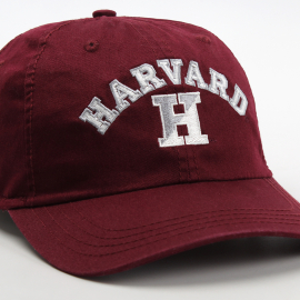 Harvard Embroidered Split H Washed Twill  Adjustable Hat
