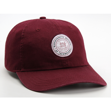 MIT Seal Patch Adjustable Washed Twill Hat