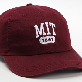 MIT Est. 1861 Embroidered Adjustable Washed Twill Hat