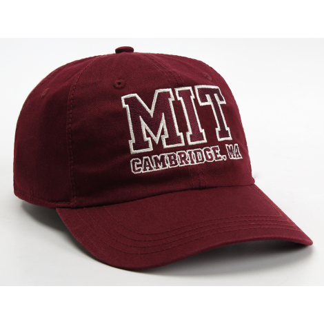 MIT  Embroidered Cambridge Adjustable Washed Twill Hat