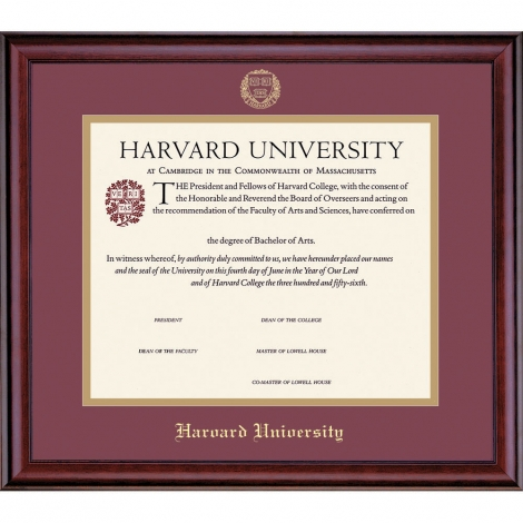 Harvard University Certificate Frame