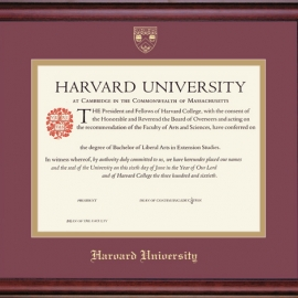 Harvard Extension School Certificate Frame