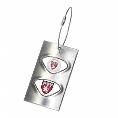 Harvard Medical School Metal Luggage/Bag Tag with Custom Medallions
