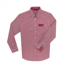 MIT Women's Mini Check Long Sleeve Shirt
