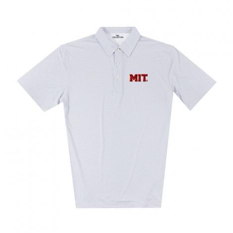MIT Men's Gingham Print Polo