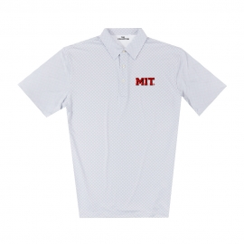 MIT Men's Gingham Print Polo