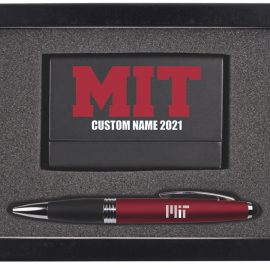 Personalized 2021 MIT Business Card Case & Pen Set