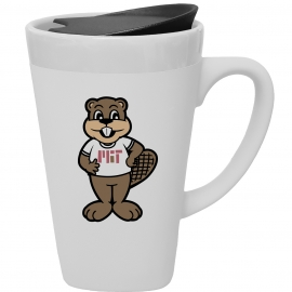 "MIT ""TIM"" Ceramic Mug with Lid"