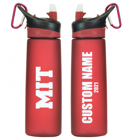 Personalized 2021 MIT Frosted Water Bottle
