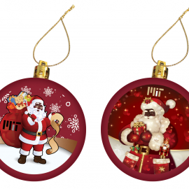 MIT Set of 2 Santa Ornaments
