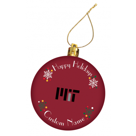 Personalized MIT Holiday Ornament