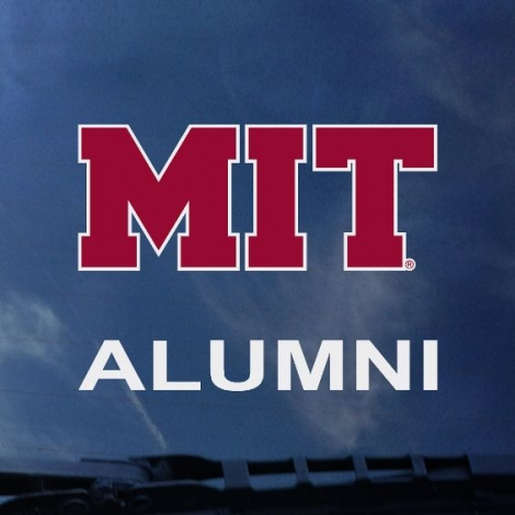 MIT Over Alumni Outside Decal