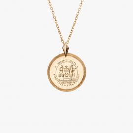 MIT Kyle Cavan Petite Florentine Crest Necklace